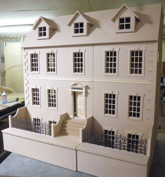The Dalton 10 Room House Including The Basement 1 12kit Dalton House Front Opening Dollhouse Kit House