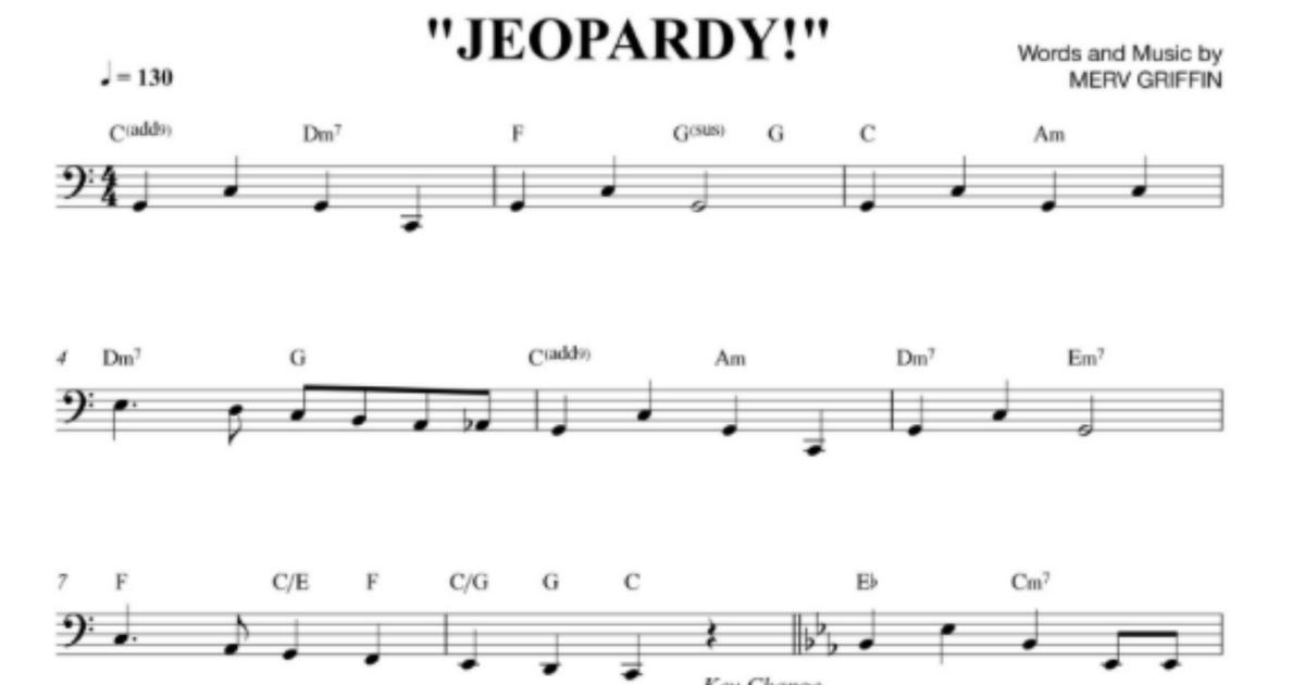 Jeopardy Themepdf Google Drive Music In 2019 Music Sheet