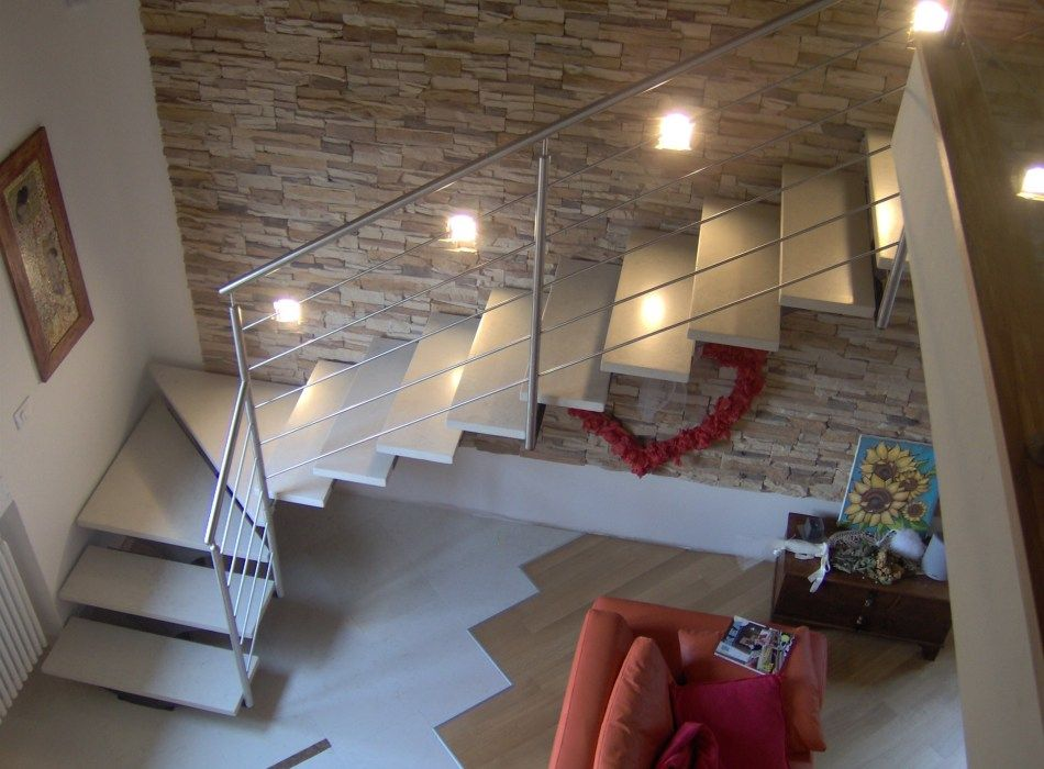 Illuminazione scale interne stairs in home interior