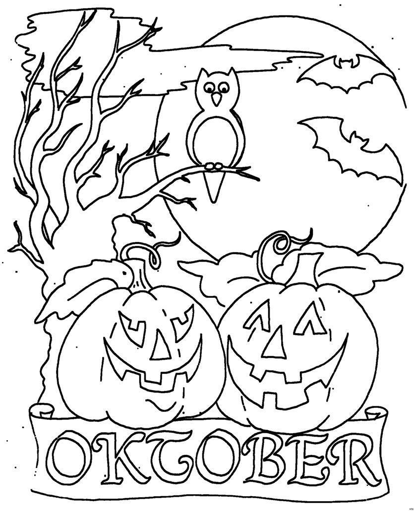 Ausmalbilder Oktober 4982349235 Oktober October Malvorlagen Ausmalbilder Coloring Malvorlagen Malvorlagen Halloween Monatsbilder