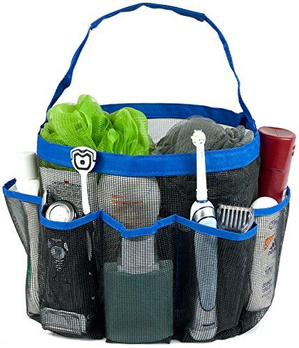 Shower Caddy & Tote Bag by WonderBath - Blue 8 Pocket Jumbo sized basket with rugged stitched handle design من متجر هدايا سنتر في جدة