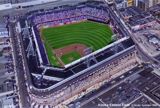 Ebbets Field History Photos And More Of The Brooklyn Dodgers Former Ballpark Baseball Stadiums Pictures Baseball Stadiums Parks Baseball Park