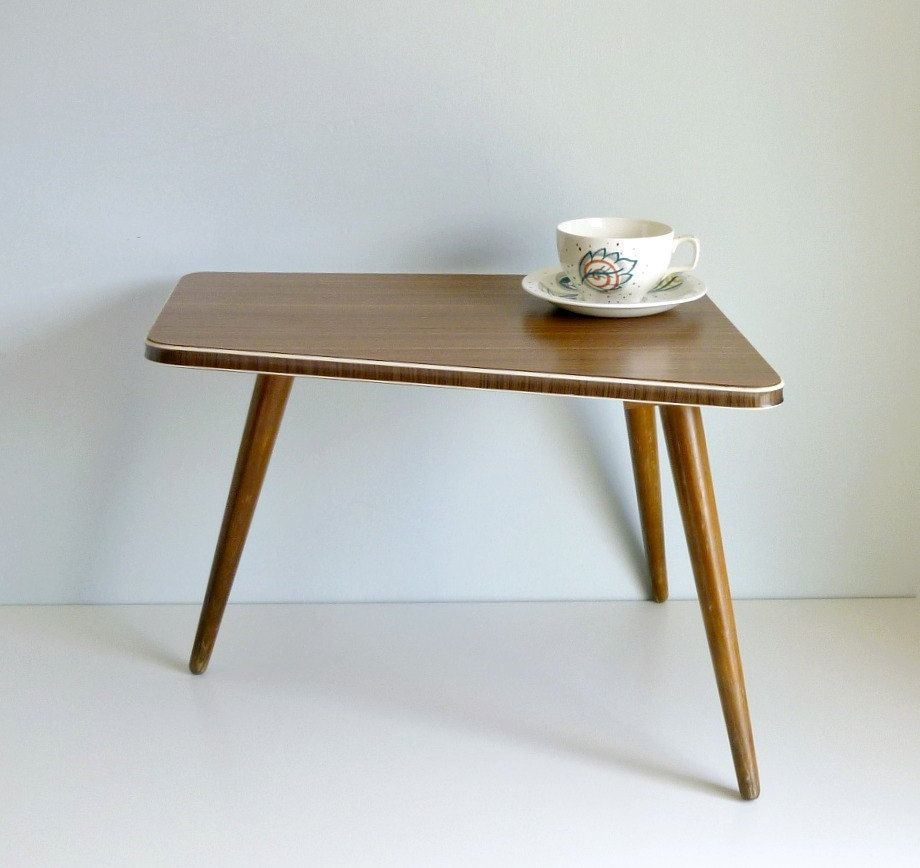 Mid Century Modern Tripod Coffee Table