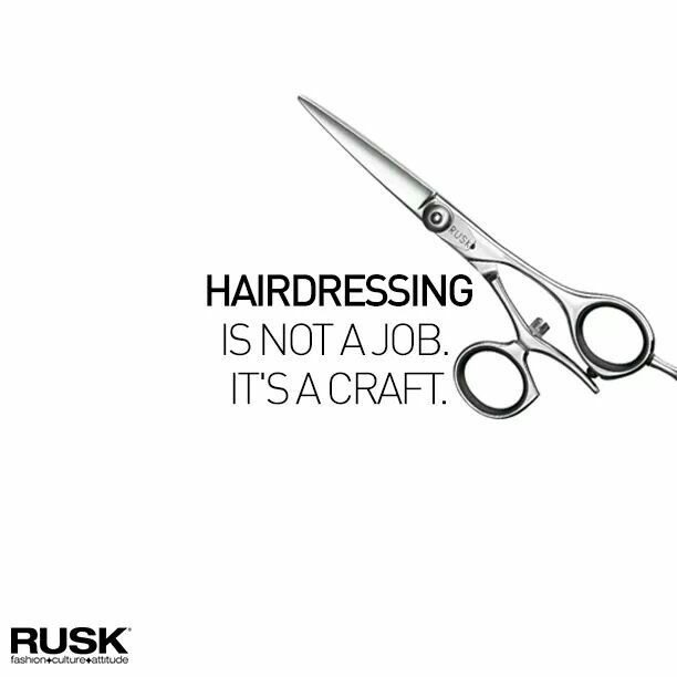 Hairdressing Is Not A Job It S A Craft Cosmetologist