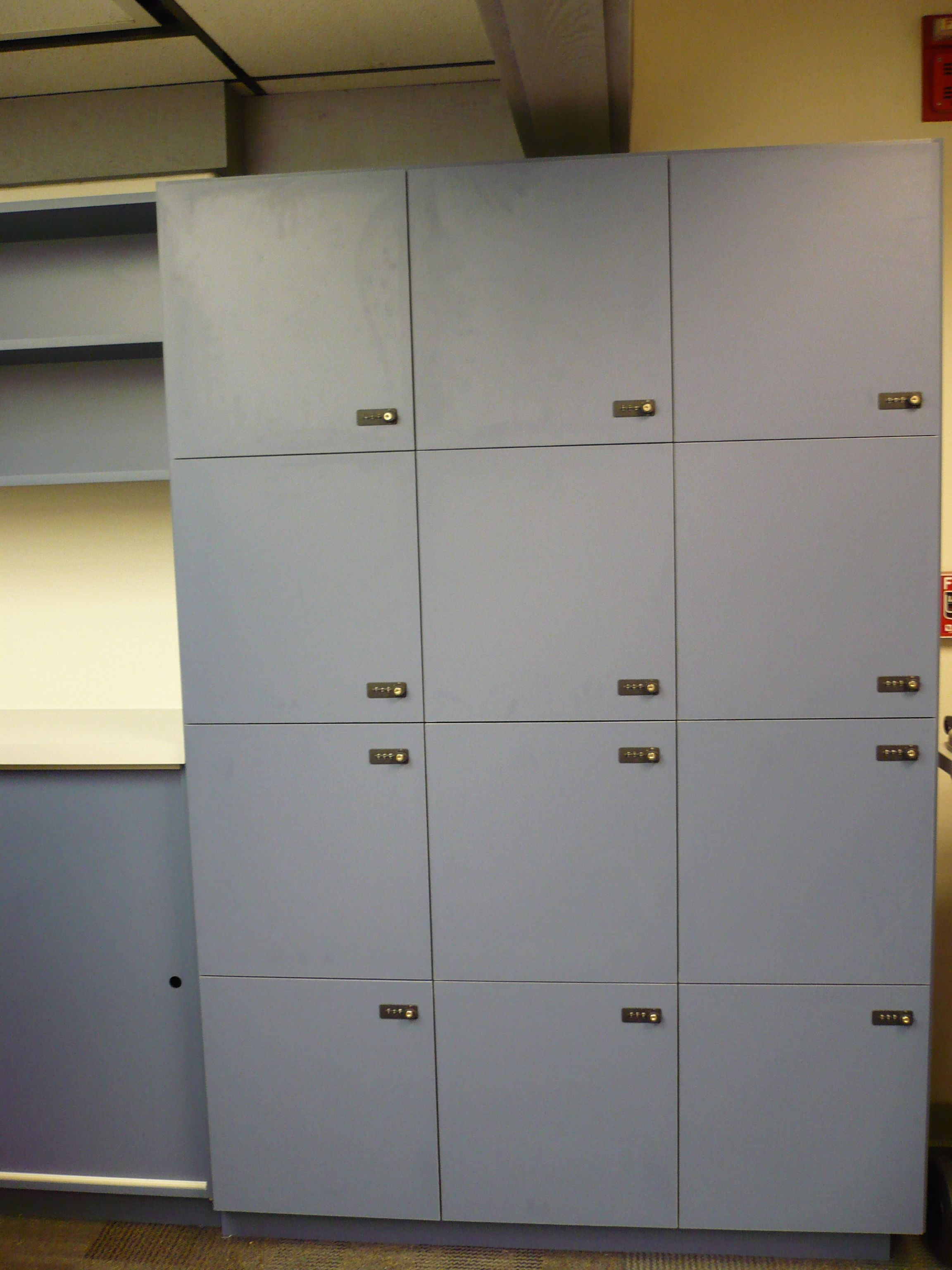 Custom laminate lockers. Irvine, CA.