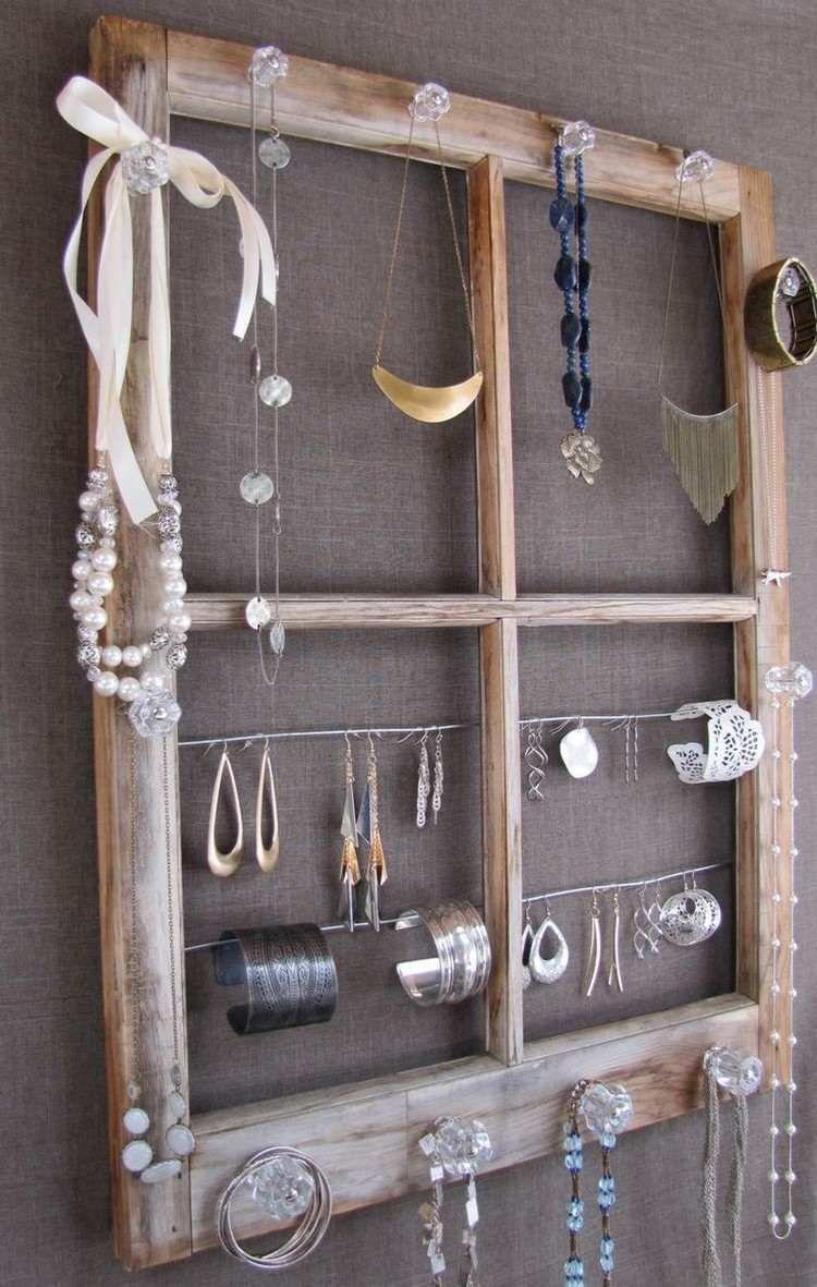 Aufbewahrungsidee für Ketten, Ohrringe und Armbänder   Schmuck ...