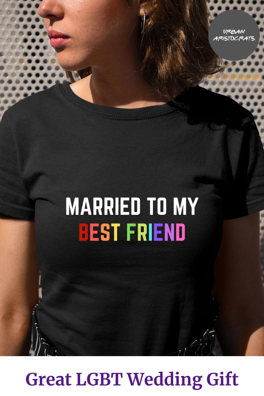 Lesbian Bride V Neck Shirt Lesbian Bride Squad V-Neck Shirt LBGTQ Bachelorette Party TShirt Pride Gifts Lesbian Wedding Shirt
