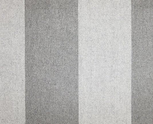 Wharral Wool Stripe Fabric A Grey And Off White Wide Striped Wool