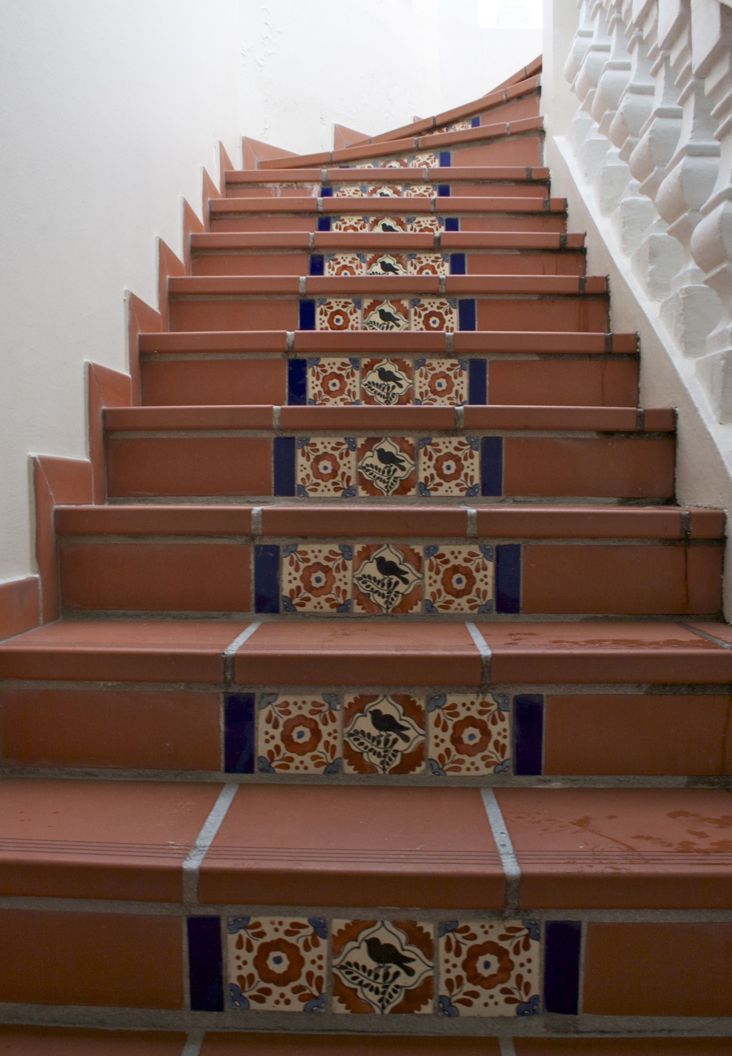 Beautiful Tile Design Going Up The Outdoor Stairs At Le Petit Hotel In  Grand Case The Food Capital Of St.