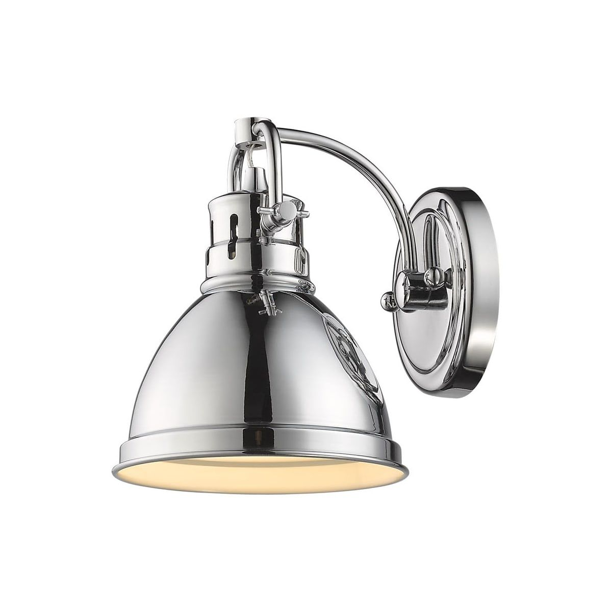 Golden Lighting 3602 Ba1 Ch Ch Chrome Duncan Single Light 9 Tall Bathroom Sconce Golden Lighting Bathroom Sconces Wall Sconce Lighting
