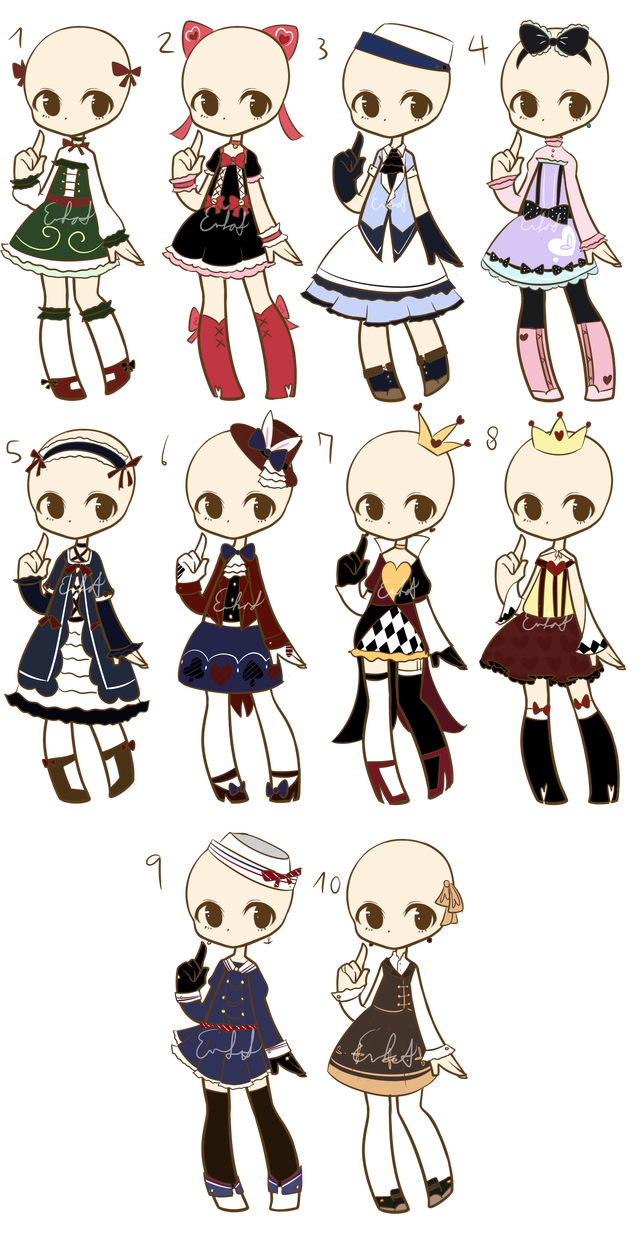 Outfit Adopts Batch 7 CLOSED by Nuggiez Drawing anime