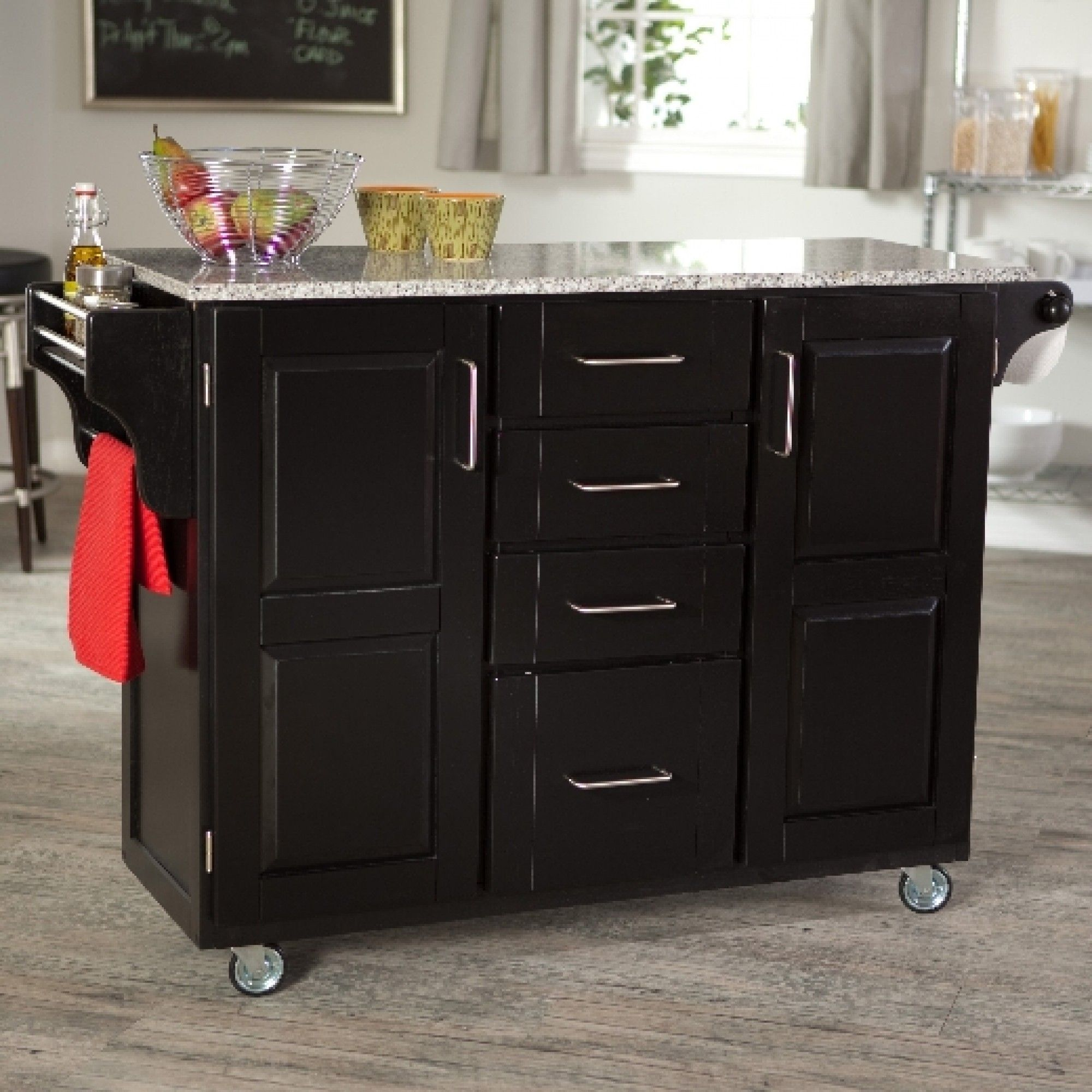 Kitchen Furniture Vintage Wooden Portable Island With Black Awesome Rolling Kitchen Chairs Design Ideas