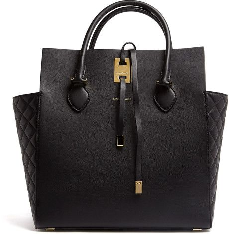 8a5f21bc00e5 Black Miranda Structured Quilted Side Panel Tote - Lyst   Nera Bag ...