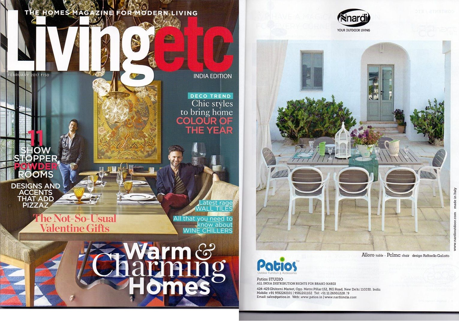 Nardi Mobili ~ Nardi alloro table and palma chair by patios featured on livingetc
