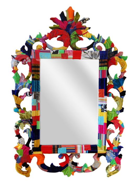 Fabric Covered Mirror No Tutorial The Swirls Mirror