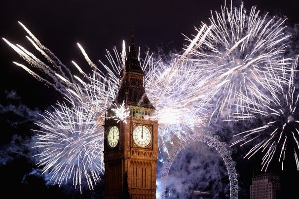 London Skyline - HAPPY NEW YEAR! Of corse I had ro repin this.