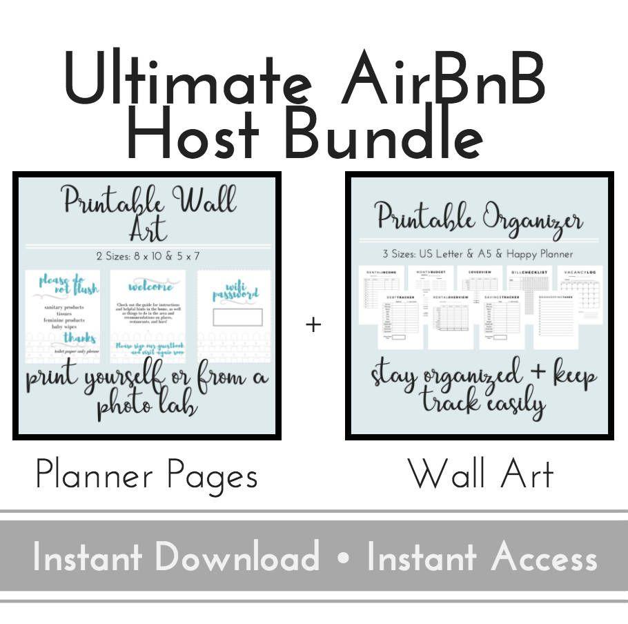 Airbnb Organizer Wall Art Airbnb Host Planner Business Planner