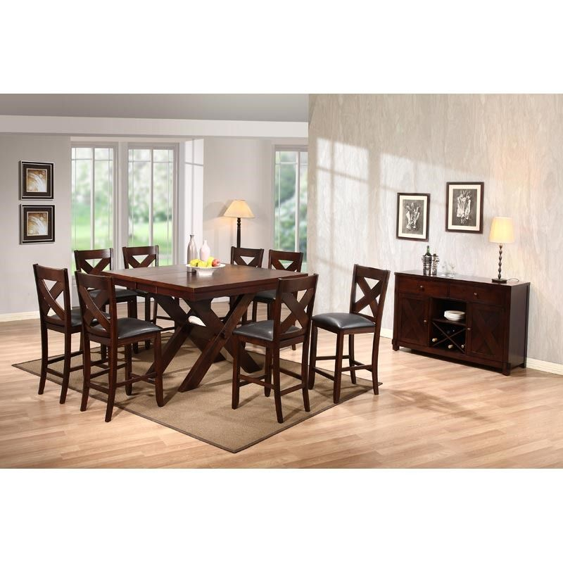 The X Factor 7 Piece Counter Height Set From Holland House Comes