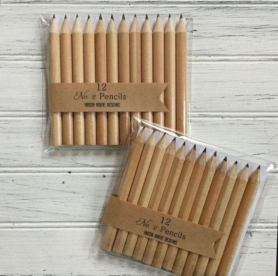 Golf Pencils Bridal Baby Shower Game Pencils by GreenRidgeDesigns