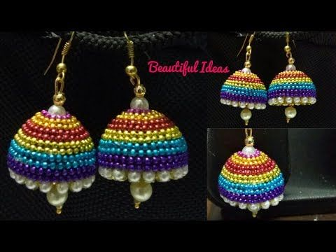 How To Make Paper Earrings Latest Earrings Designs Making At Home Paper Jeweller Silk Thread Earrings Designs Silk Thread Bangles Design Silk Thread Jewelry