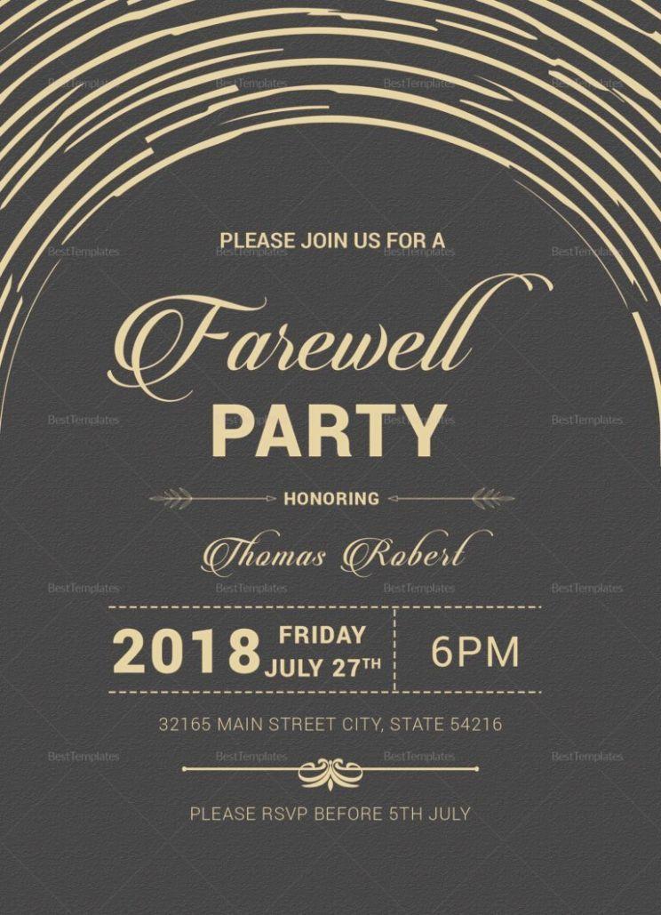 7 Card Design For Farewell Invitation