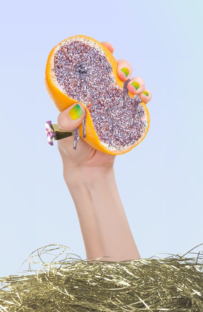 orange & glitter CHARLOTTE AUDREY OWEN-MEEHAN