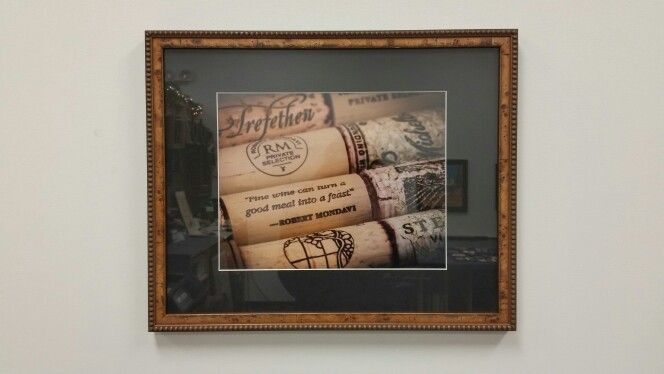 Photo of wine corks in a textured frame the really compliments the ...