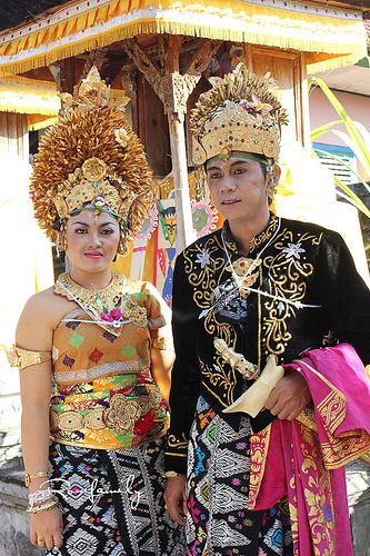 Balinese Wedding Ceremony in House Temple