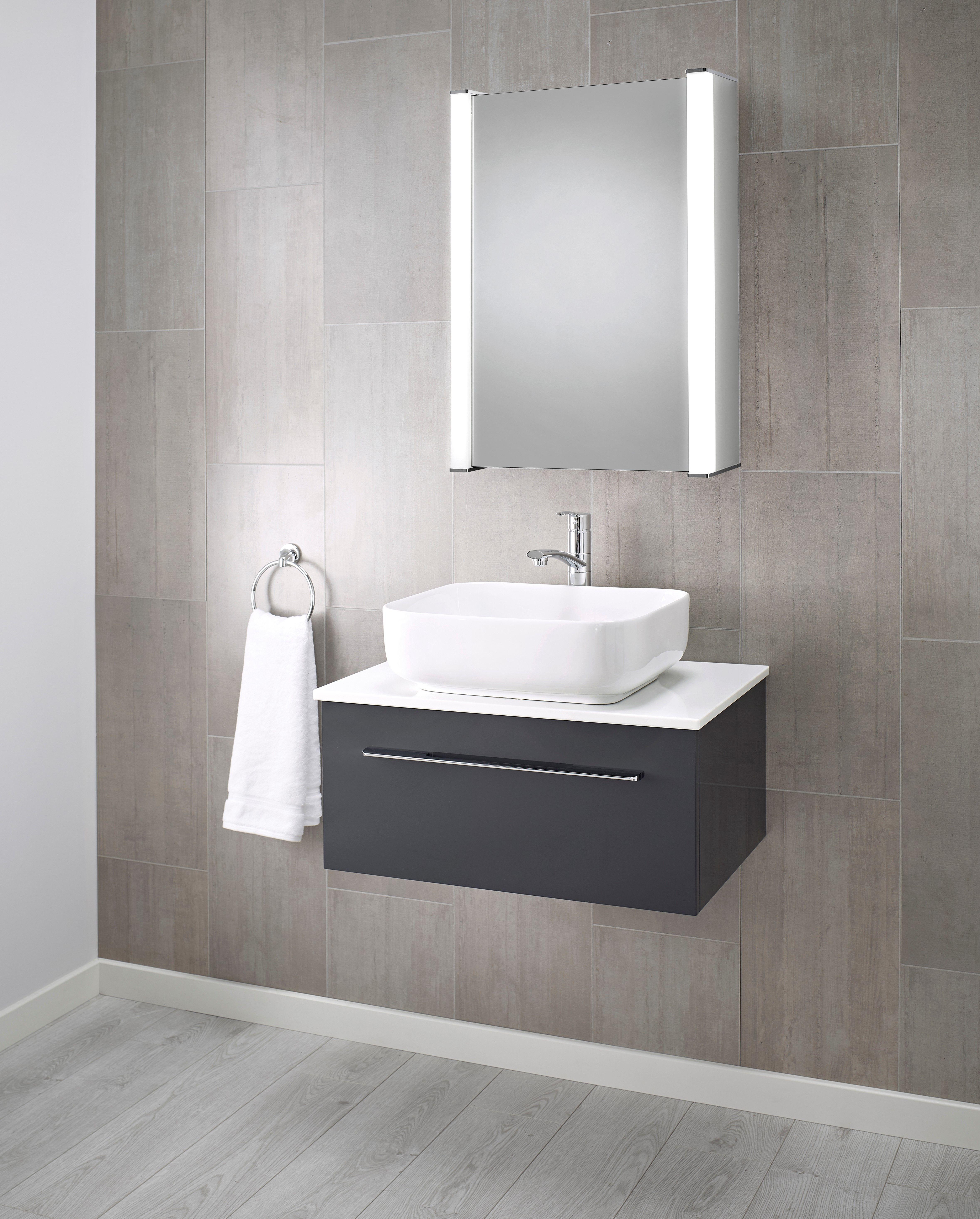 Scarlett Led Illuminated Bathroom Mirror Cabinet 500 X 700 Mm
