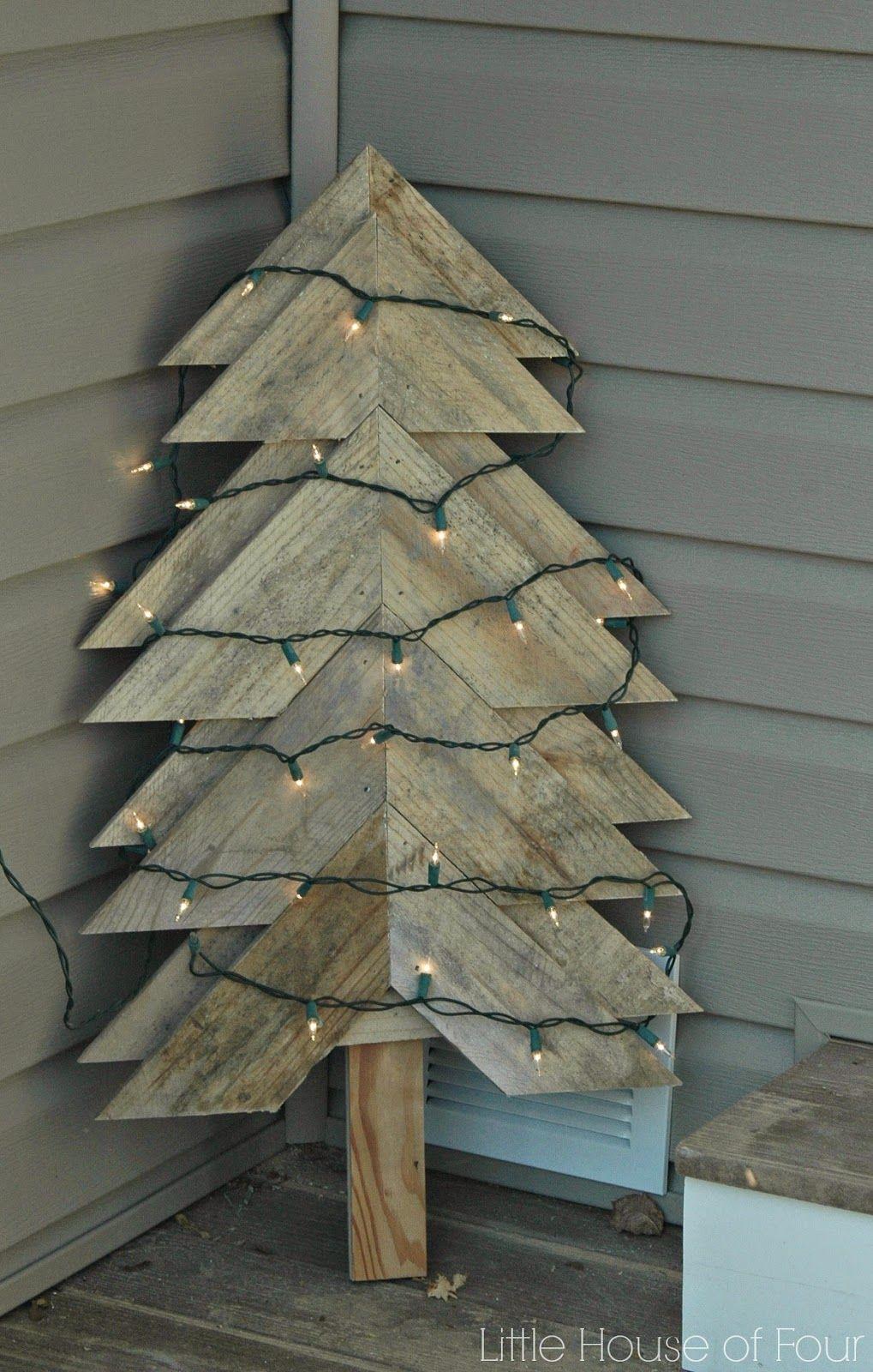 Large Rustic Pallet Christmas Tree Pallet Christmas Pallet Christmas Tree Christmas Decorations Diy Outdoor