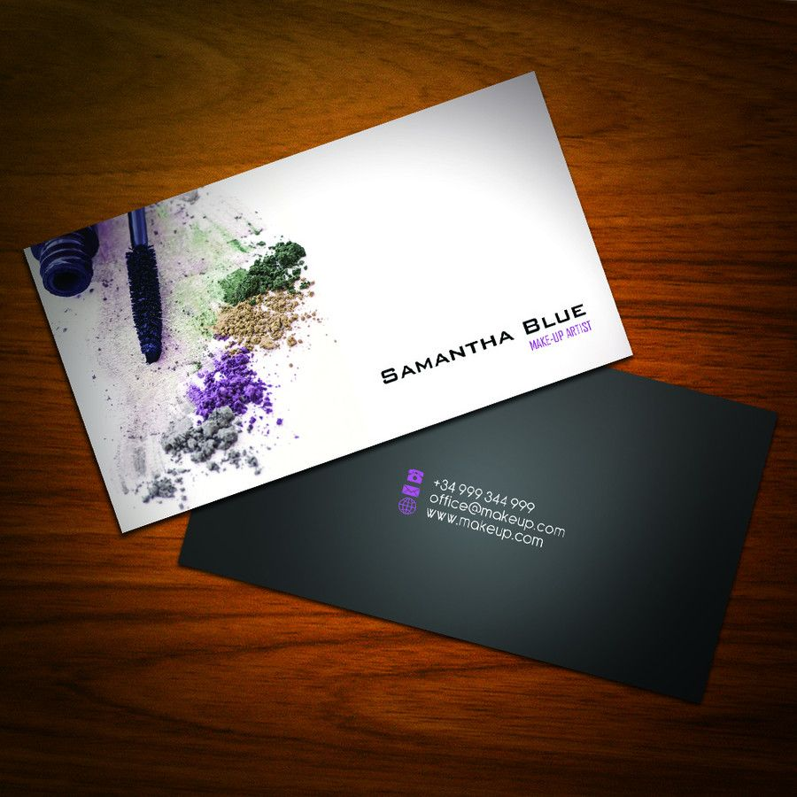 Business Card Design for Freelance Makeup Artist | graphic design ...