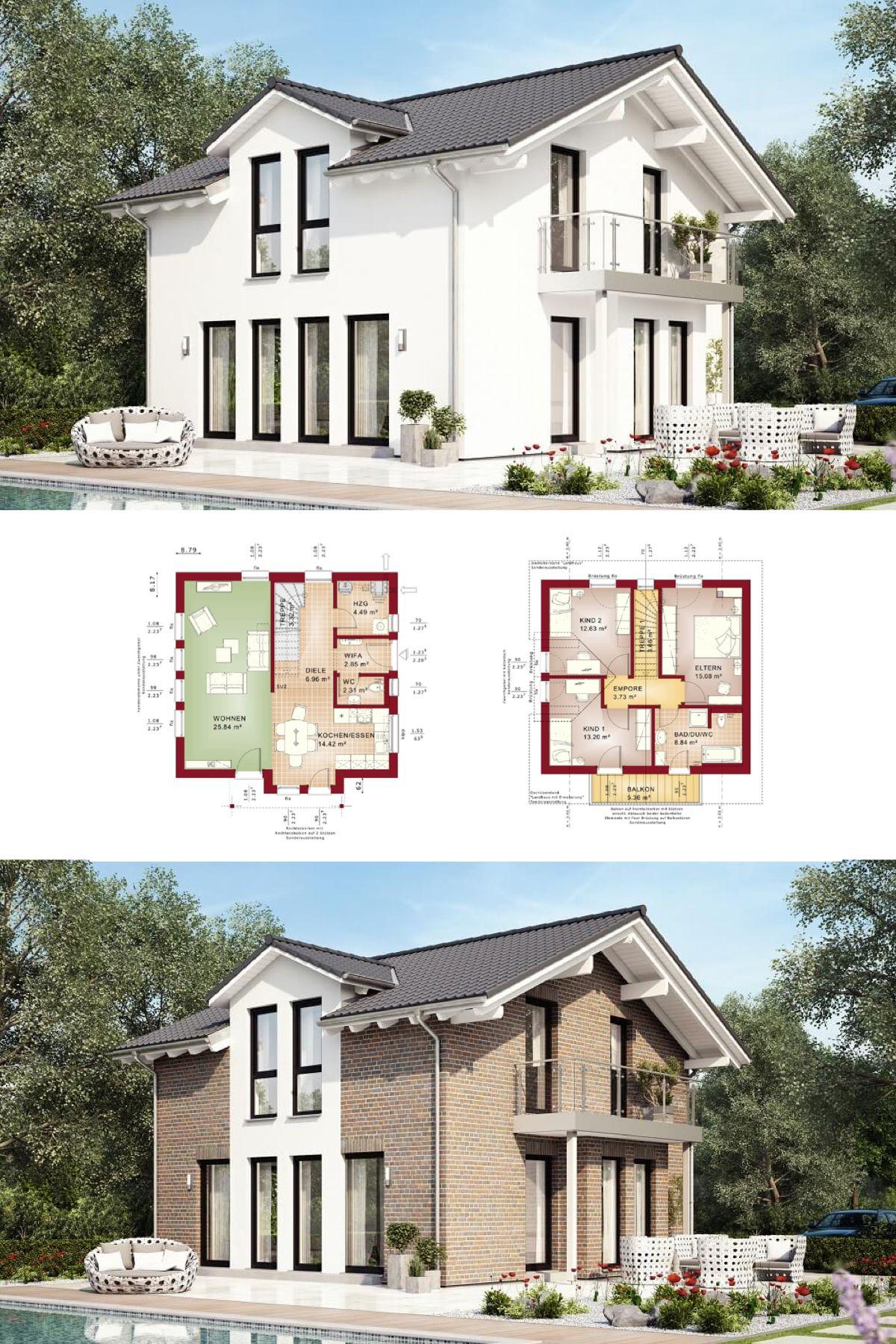 Modernes einfamilienhaus mit satteldach haus evolution for Modernes einfamilienhaus grundriss
