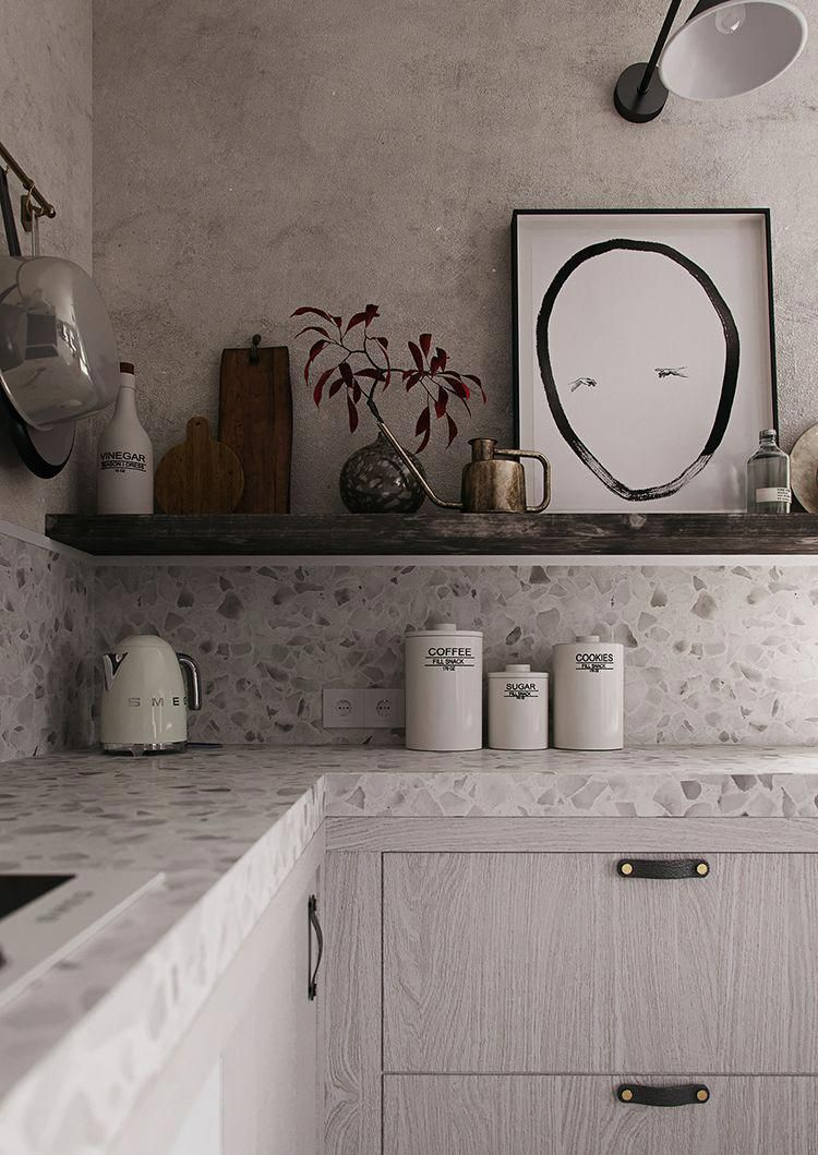 Unique Furniture With Advanced Layout Makes An Assertion At Your Residence Contemporary Grey Kitchen Kitchen Remodel Countertops Replacing Kitchen Countertops