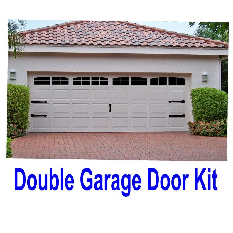 Carriage House Style Vinyl Garage Door Decal Kit Faux Windows Etsy Garage Doors Garage Door Styles Single Garage Door