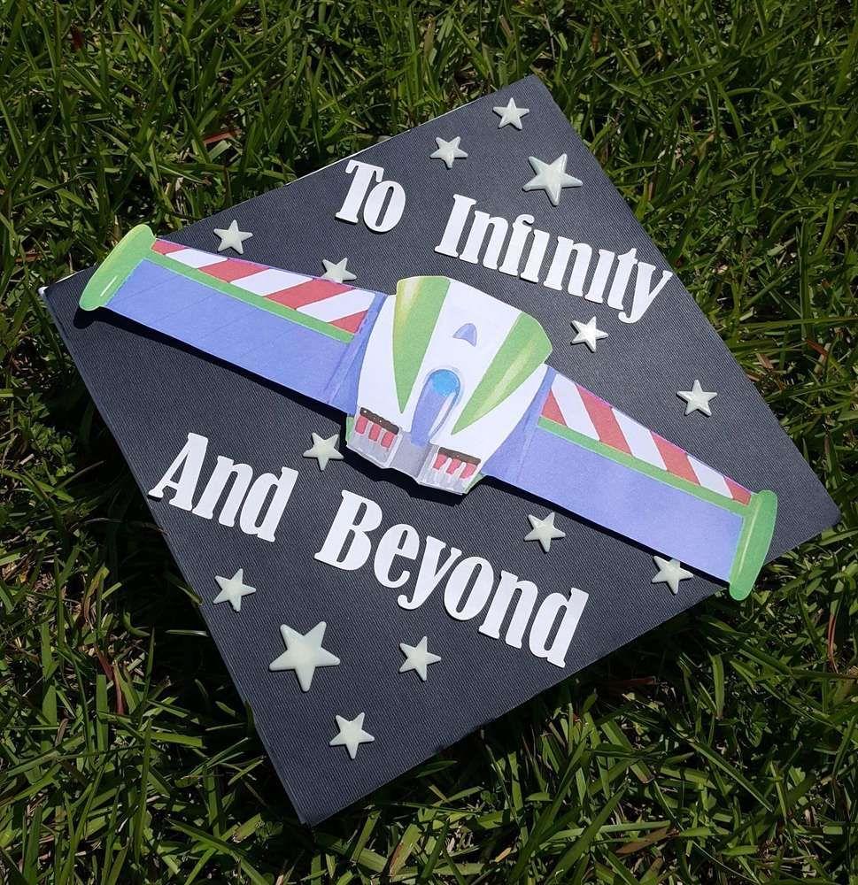 Buzz Light Year Graduation End Of School Party Ideas Photo 21 Of 23 High School Graduation Cap Decoration Graduation Cap Decoration Graduation Cap