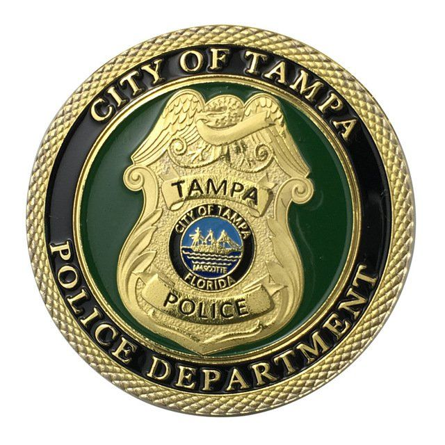 Us Military City Of Tampa Police Department Gold Plated Challenge Copy Coin For Collection Police Challenge Coins Challenge Coins Firefighter Challenge Coins