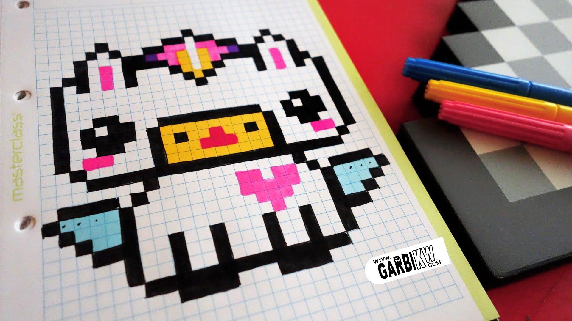 Handmade Pixel Art How To Draw Kawaii Unicorn Pixelart Pixel Kunst Zeichnen Lernen Bilder Zeichnen