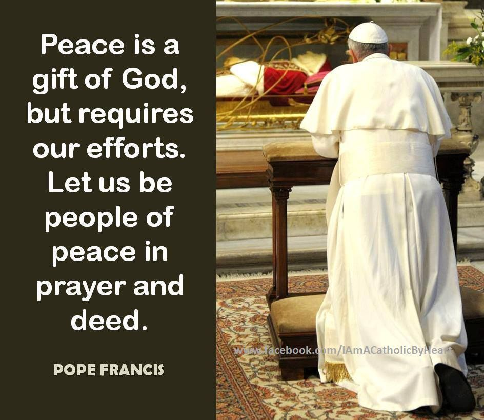 Pope Francis quote on peace. | Pope francis quotes, Pope francis, Peace  quotes