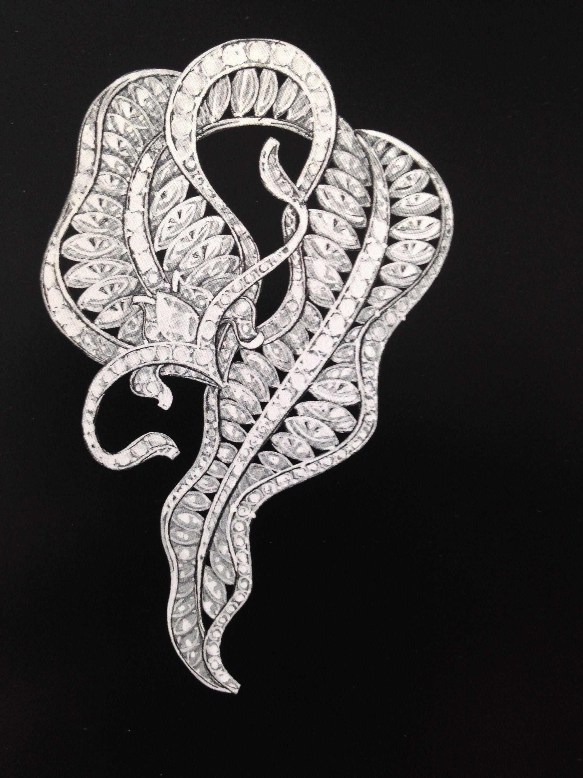 Broche vcajewerlyillustrationbracelet design pinterest