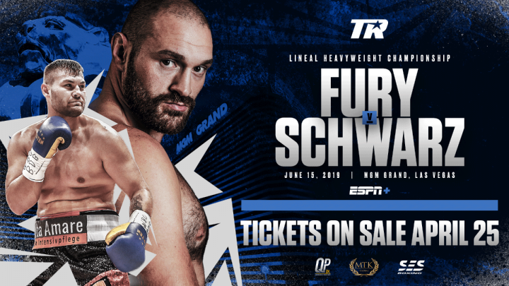 Fury vs Schwarz Live And Exclusive On BT Sport Box Office