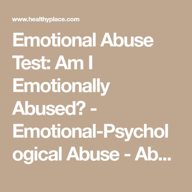 Am i emotionally abusive quiz