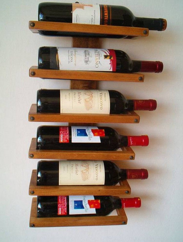 Recycled Pallet Wood Wine Rack