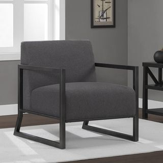 overstockcom darcy charcoal grey metal frame arm chair this stylish metal