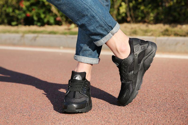 25f6ed7051c0b esty Nike Air Huarache Black Safari On Feet