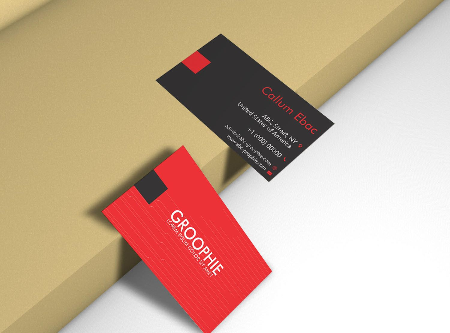 Business Card Mockup Double Sided Graphic By Patternhousepk Creative Fabrica