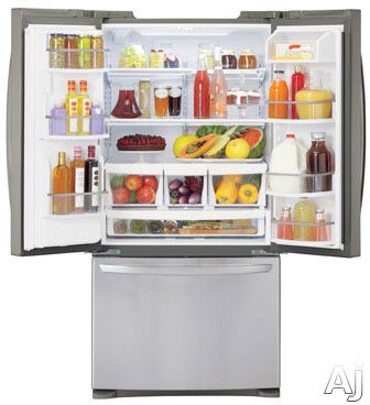 Lg Lfxs24623s 33 Inch French Door Refrigerator With Slim Spaceplus Ice Maker Spillprotector Glass Shelving Glide N Serve Linear Compressor Fresh Air Fil French Door Bottom Freezer Refrigerator French Door Bottom