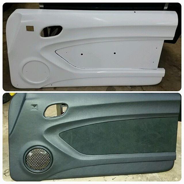 Fiberglass Door Panels For A Camaro Fesler Leather And Suede Custom Grill Becausess Custom Grill Fiberglass Door Truck Interior