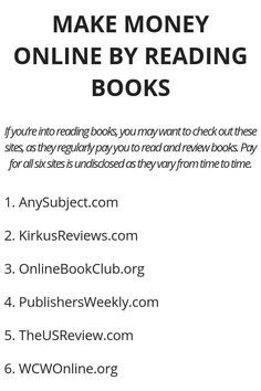 Work At Home Jobs With Books Make Earn Money Online