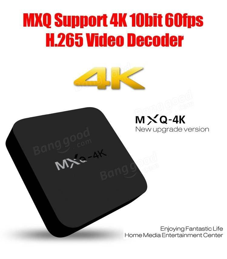 MXQ 4K RK3229 Android 4 4 1GB/8GB H 264/H 265 10Bit WIFI LAN KODI
