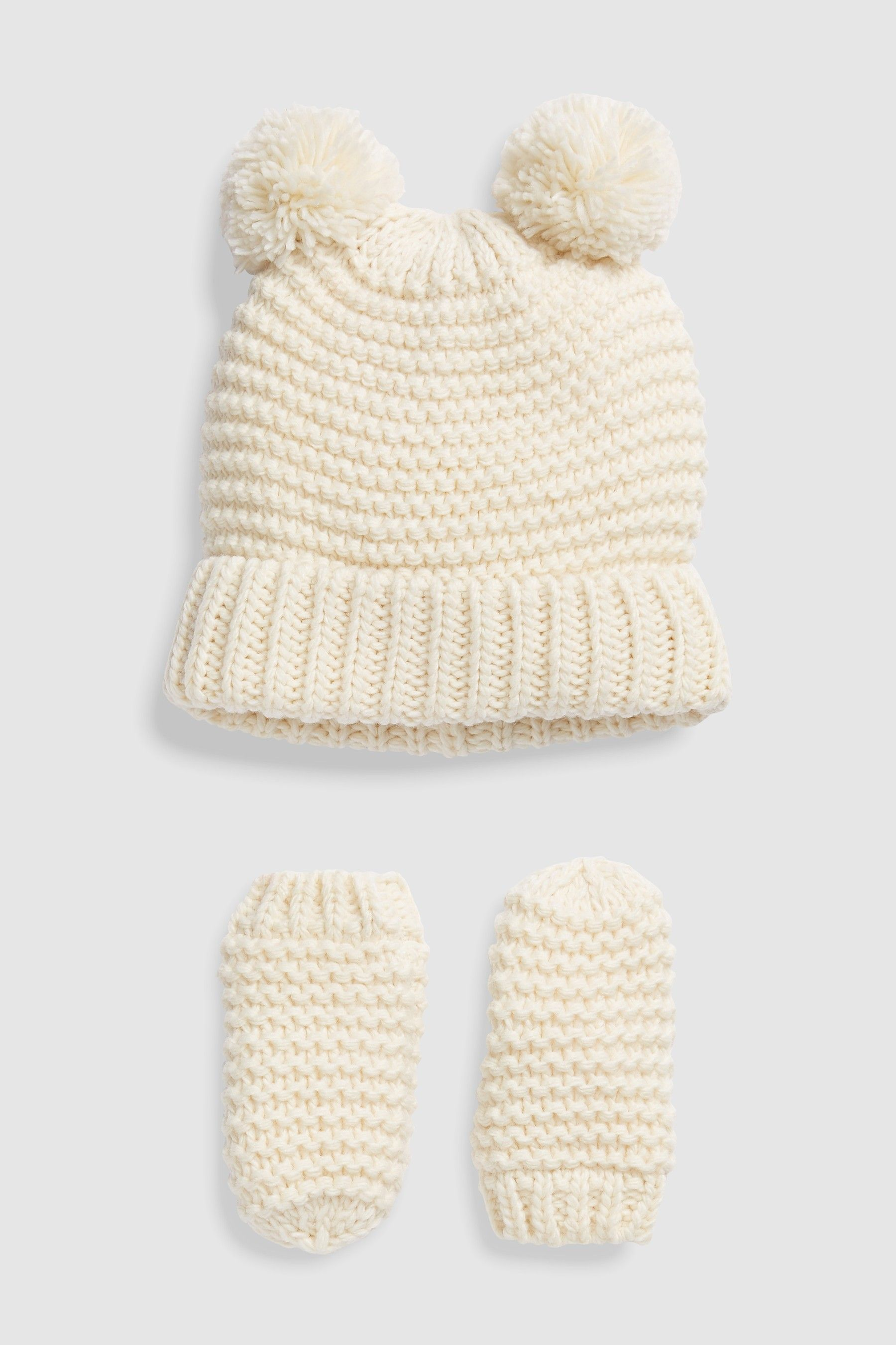 fdd0dd0d0e2 Girls Next Ecru Hat And Mitts Set (Younger) - White